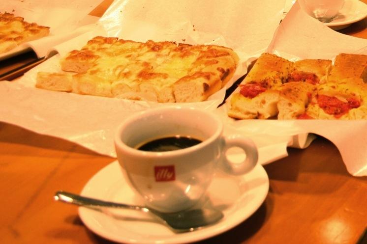 Foccacia and espresso