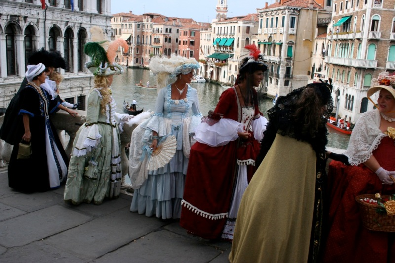 Costumed participants in the Historical Regatta festivities