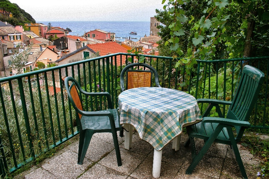 View from our room in Monterosso