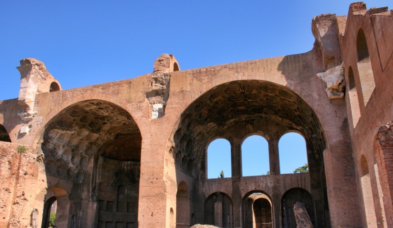 North wall of the Basilica of Maxentius