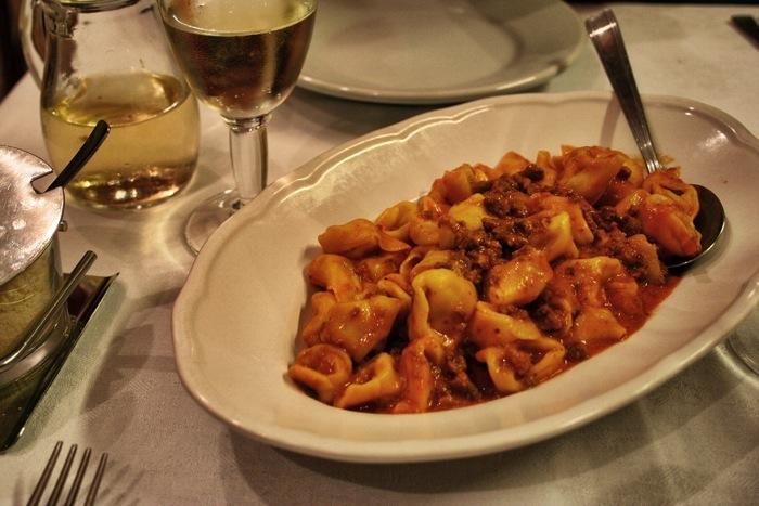 Ragu alla bolognese on taglietelle at Trattoria da Gianni