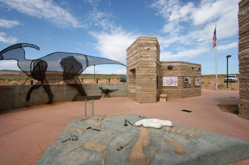 Big Water Visitors Center specializes in paleontology