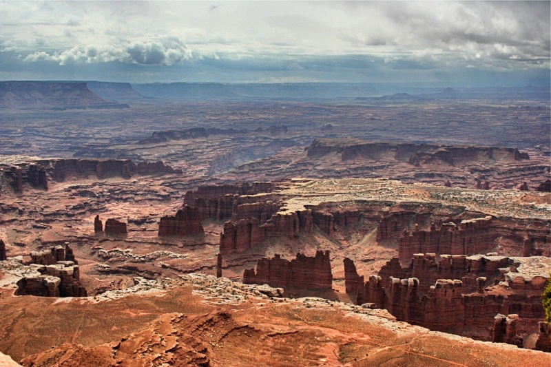 Spectacular canyons visible from Grand View Point Overlook