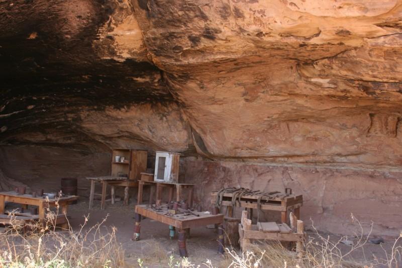 Remnants of a cowboy camp
