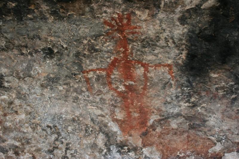 Ancient Puebloan pictograph
