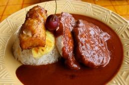 Pork loin with spices, guajillo chile and cinnamon