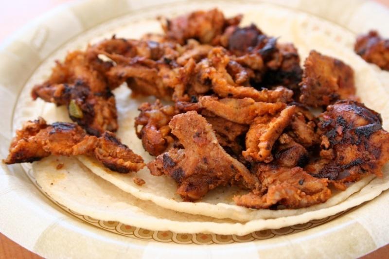 Pork adobado taco