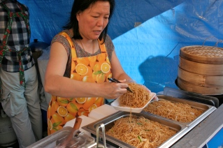 Serving Hong Kong-style noodles