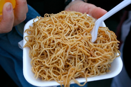 Pan-fried Hong Kong-Style chow mein
