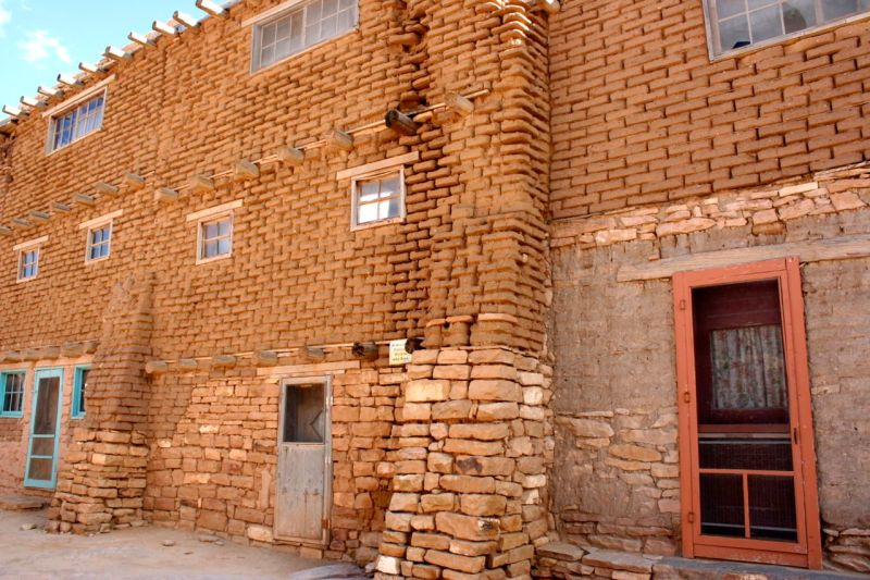 Acoma homes are more updated than those of most other pueblos