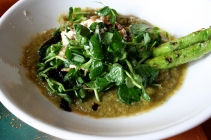 Portobello mushroom, asparagus gazpacho, goat cheese, aged balsamic