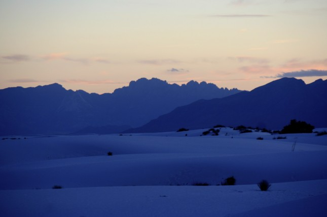 White Sands after sunset