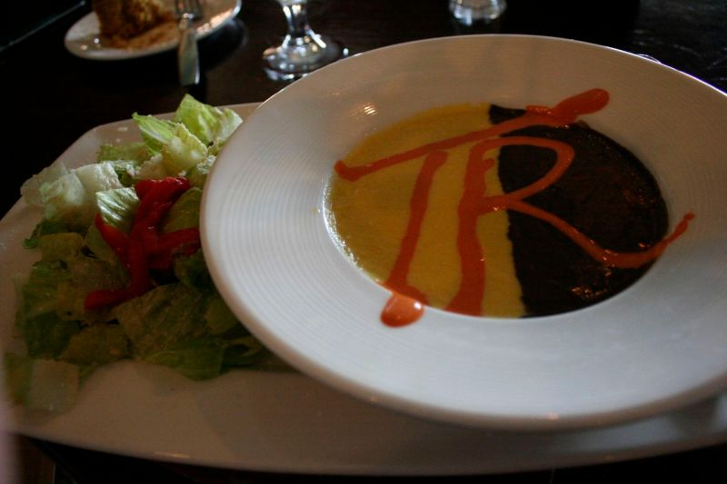 Corn and black bean soup