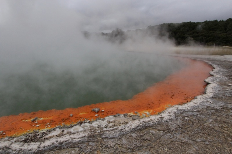 Champagne Pool not only bubbles but is edged with a bright orange ring