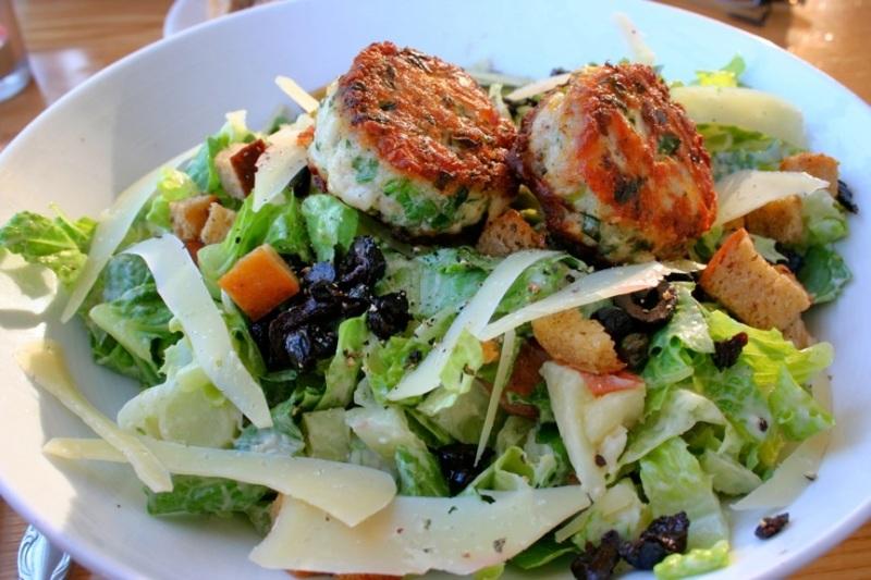 Dinner salad at MacCallum House