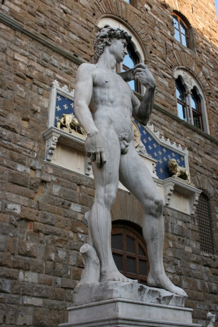 A replica of Michelangelo's David