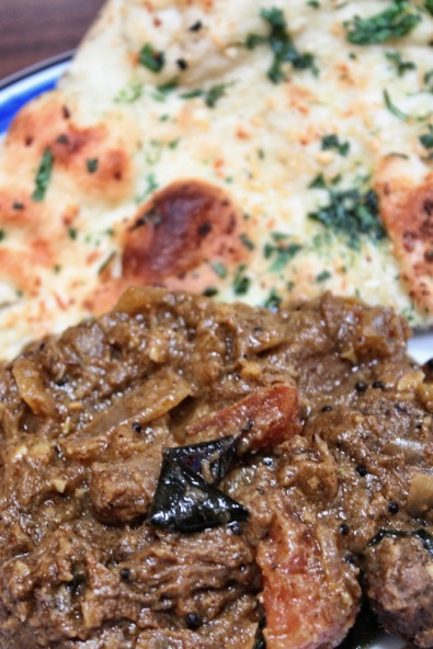 Lamb Karaikudi with naan (photo taken at home)