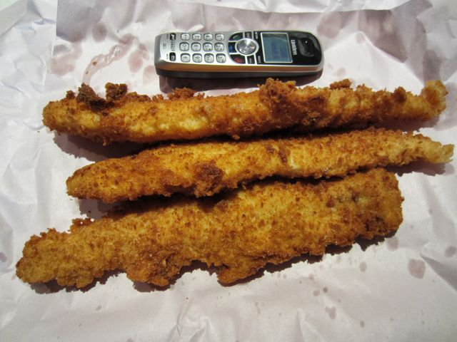 Fried akaroa cod