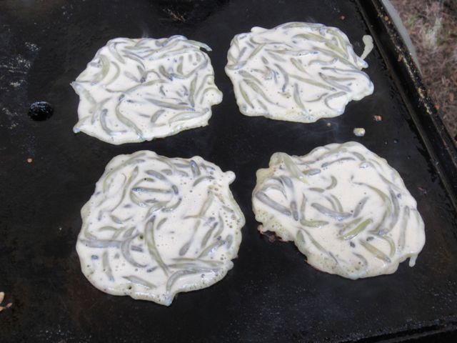 Whitebait on the griddle