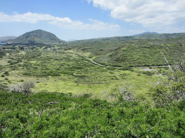 Along the trail, you can see the highway and Koko Head