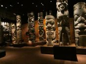 First Nation posts and totems