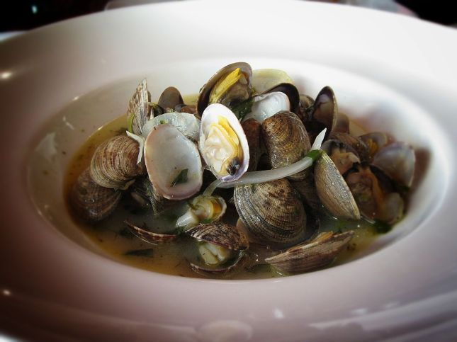 Steamed Clams in Ramp-Fennel Broth