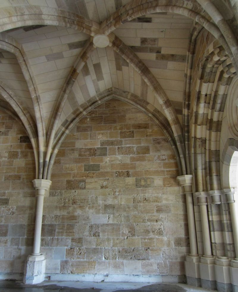 The pointed ceilings symbolize the vault of heaven