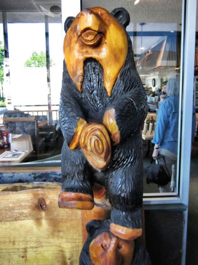 cedar bear carving