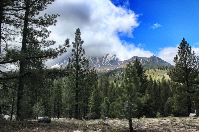 Lassen Peak from Hot Rock parking area