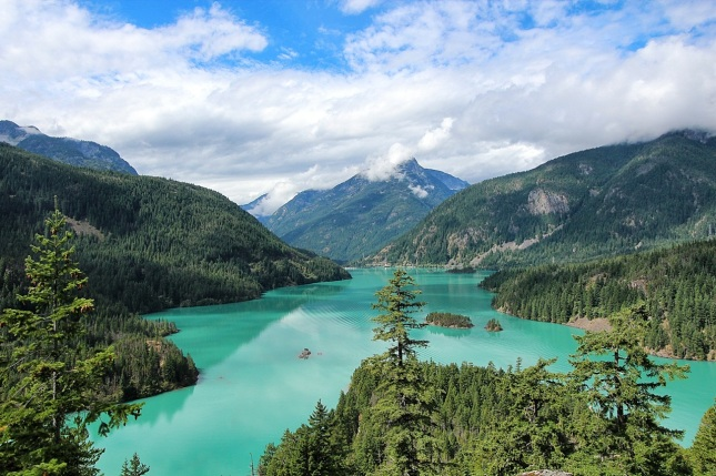 Ross Lake as viewed from the overlook