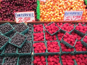 Summer berries and cherries