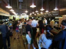 Inside the original Starbucks store