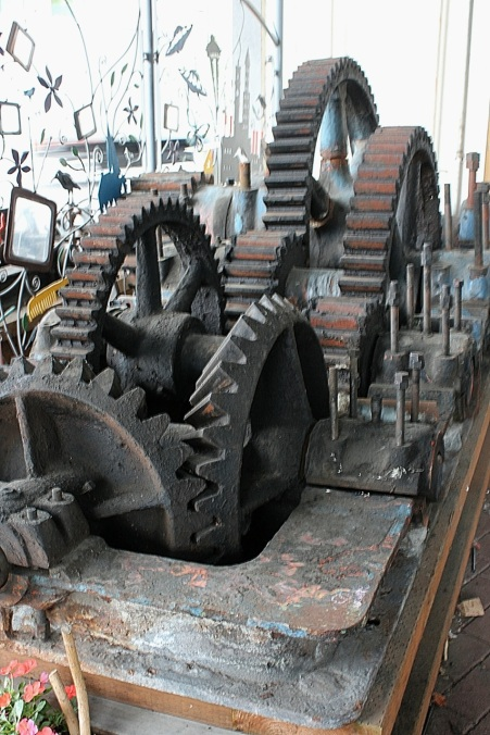 Original gears used by the Fremont Bridge