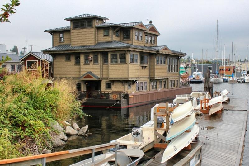 Three-story houseboat
