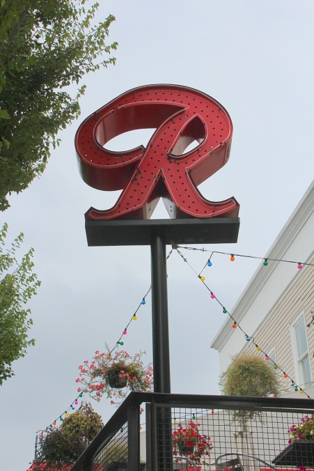 Replica of the historic Rainier Brewery sign