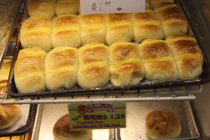 Cocktail buns at Mon Hei Chinese Bakery