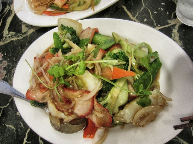 Stir Fried BBQ Pork with Vegetables