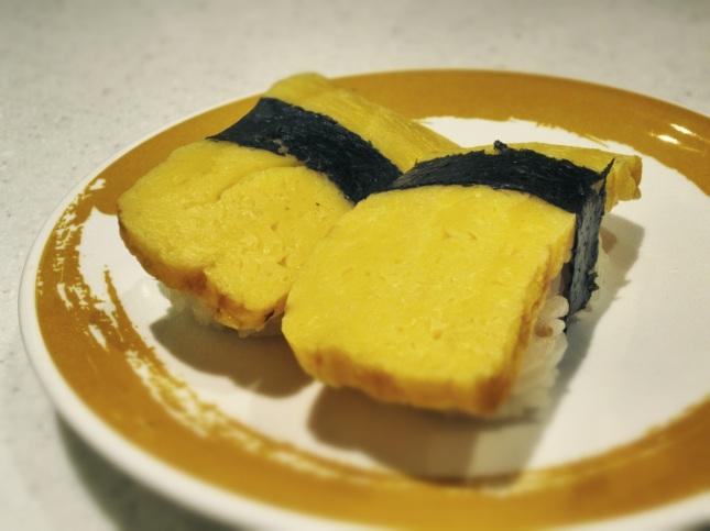 Tamago (egg) nigiri