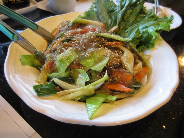 Yam noodles (japchae)