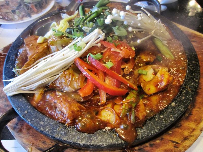 Braised black cod casserole (eun dae goo jorim)