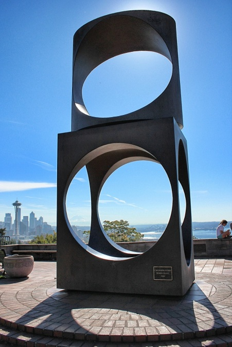"""Changing Form,"" Doris Chase, sculpture at Kerry Park"