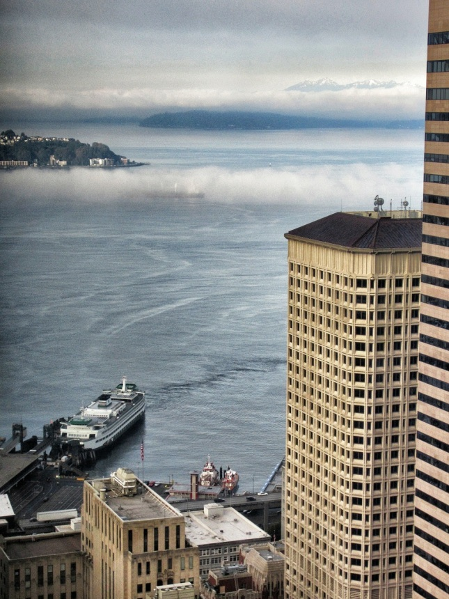 view from starbucks columbia center