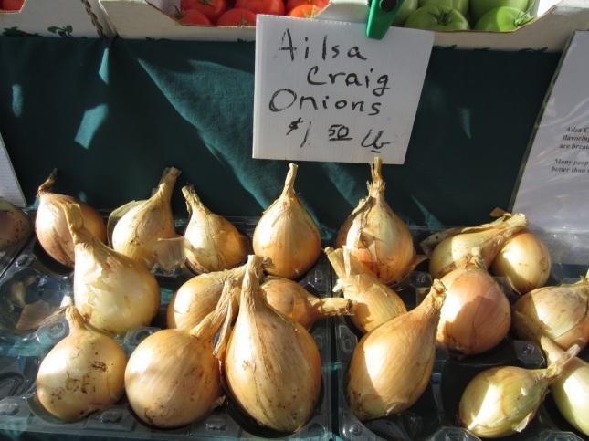 Ailsa Craig onions