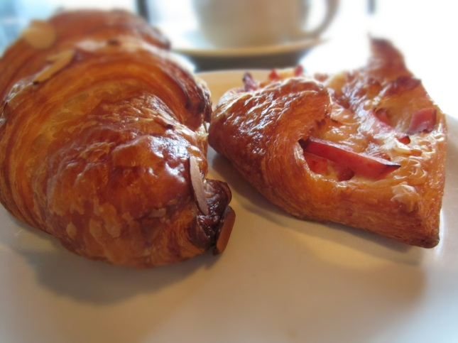 Almond croissant, ham & Swiss cheese pastry