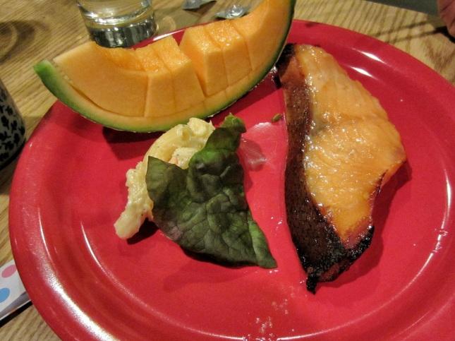 Salmon miso dinner