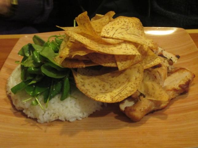 """""""Huli huli"""" chicken breast with rice"""