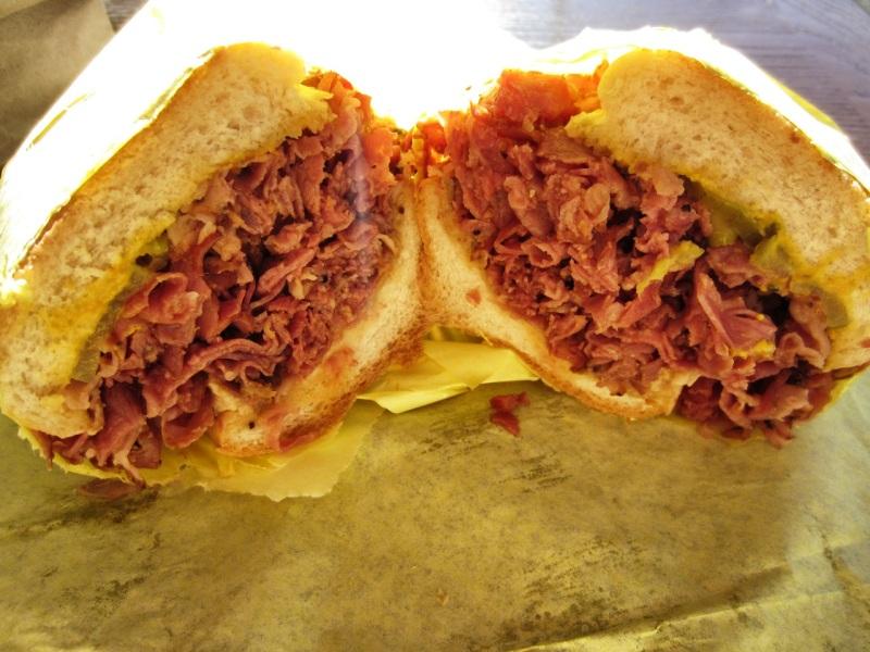 Pastrami dip sandwich