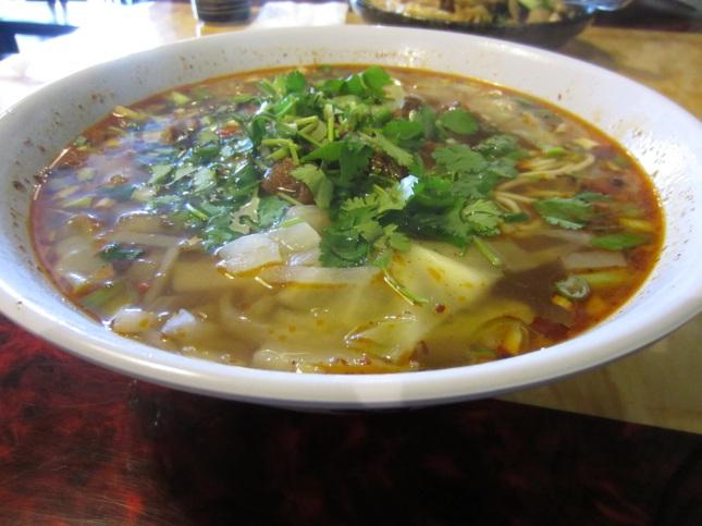 Szechuan style beef noodle soup