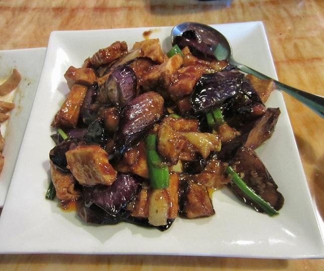 Tofu with eggplant