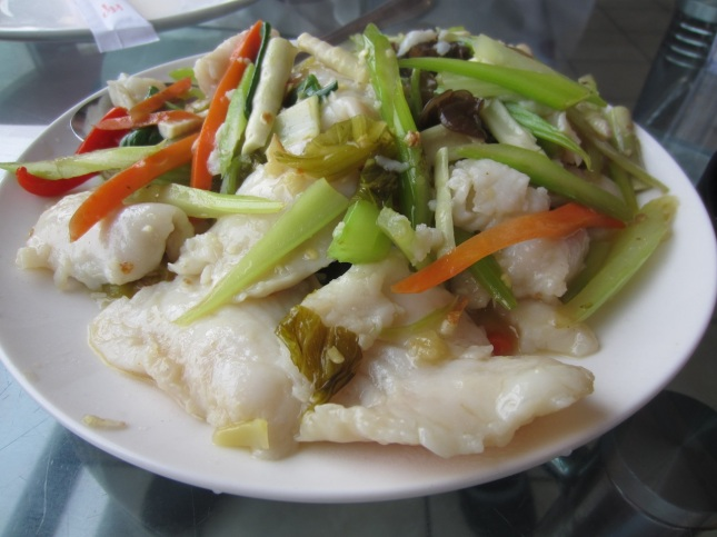 Pickled vegetable fish
